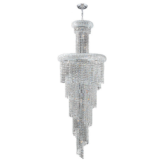 Empire Collection 22 Light Crystal Spiral Cascading Chandelier