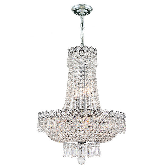 Empire Collection 8 Light Mini Round Crystal Chandelier