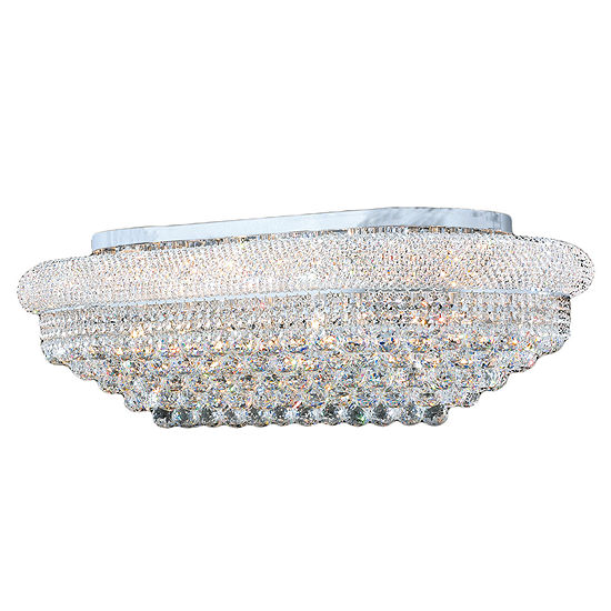 Empire Collection 18 Light Rectangle Clear Crystal Flush Mount Ceiling Light
