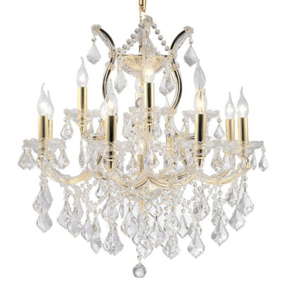 Maria Theresa Collection 13 Light 2-Tier Clear Crystal Chandelier