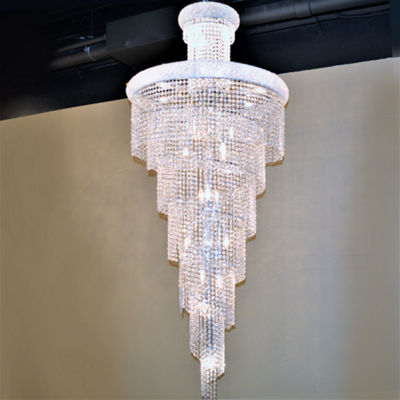 Empire Collection 28 Light Crystal Spiral Cascading Chandelier