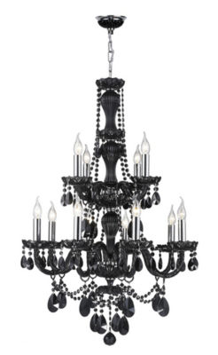 Provence Collection 12 Light 2-Tier Crystal Chandelier