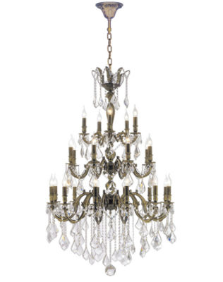 Versailles Collection 25 Light 3-Tier Clear Crystal Chandelier