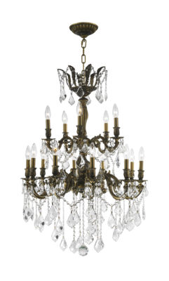 Versailles Collection 15 Light 2-Tier Clear Crystal Chandelie