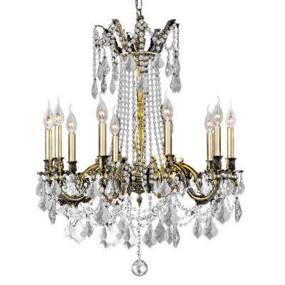 Windsor Collection 10 Light Antique Bronze Finish and Clear Crystal Chandelier