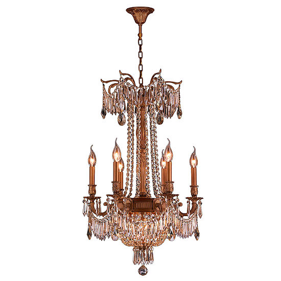 Winchester Collection 9 Light French Gold Finish and Crystal Chandelier