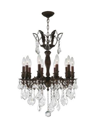 Versailles Collection 10 Clear Crystal Chandelier