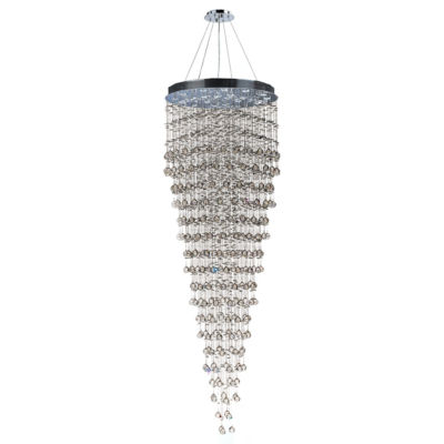 Icicle Collection 16 Light Chrome Finish and Clear Crystal Chandelier