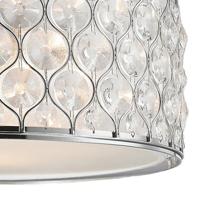 "Paris Collection 5 Light Chrome Finish with Clear Crystal Pendant D20""H8"""