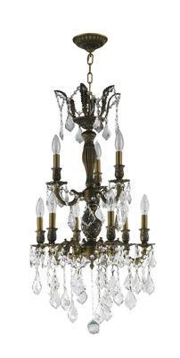 Versailles Collection 9 Light Clear Crystal Chandelier