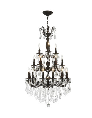 Versailles Collection 21 Light 3-Tier Flemish Brass Finish and Crystal Chandelier