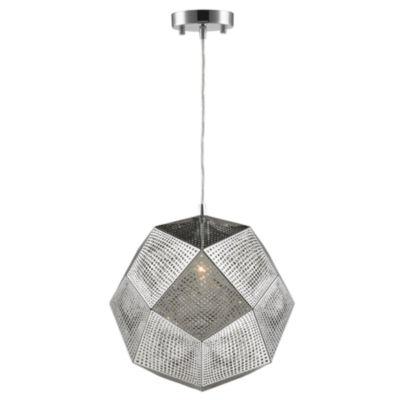 "Geometrics Collection 1 Light 12"" Stainless SteelPendant """