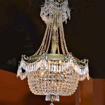 Winchester Collection 10 Light Antique Bronze Finish and Clear Crystal Chandelier