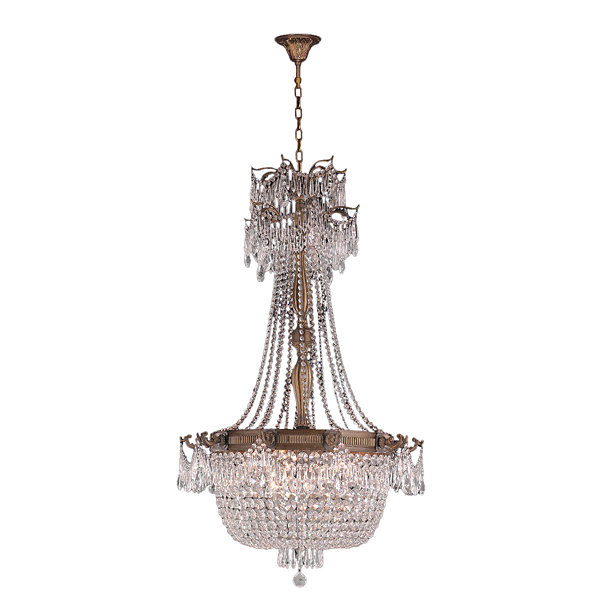 Winchester Collection 10 Light Antique Bronze Finish and Clear Crystal  Chandelier - Winchester Collection 10 Light Antique Bronze Finish And Clear
