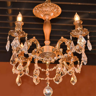 Windsor Collection 4 Light French Pendalogue ClearCrystal Semi Flush Mount Ceiling Light