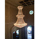 Empire Collection 38 Light 2-Tier Round Crystal Chandelier