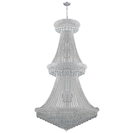 Empire Collection 38 Light 2 Tier Round Crystal Chandelier