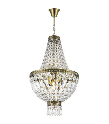 Metropolitan Collection 5 Light Mini Antique Bronze Finish and Clear Crystal Chandelier