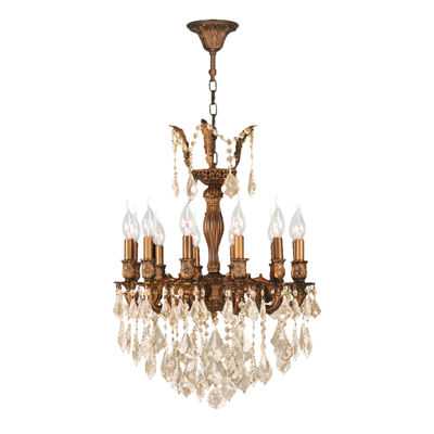 Versailles Collection 12 Light French Gold Finishand Crystal Chandelier