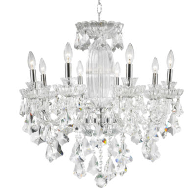 Olde World Collection 8 Light Chrome Finish Crystal Chandelier