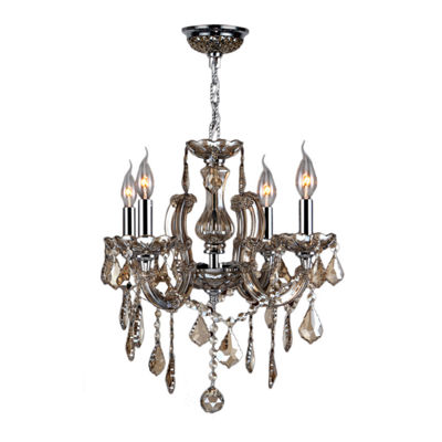 Catherine Collection 4 Light Chrome Finish and Crystal Chandelier