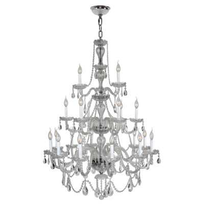 Provence Collection 21 Light 3-Tier Clear CrystalChandelier