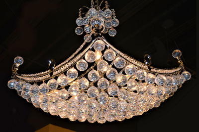 Empire Collection 8 Light Oblong Crystal UmbrellaChandelier