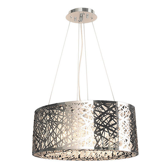 Aramis Collection 8 Light Chrome Finish and Clear Crystal Chandelier
