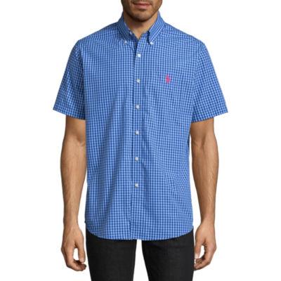 U.S. Polo Assn. Short Sleeve Checked Button-Front Shirt