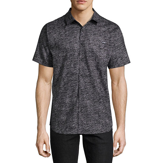 Zoo York Mens Short Sleeve Button Front Shirt
