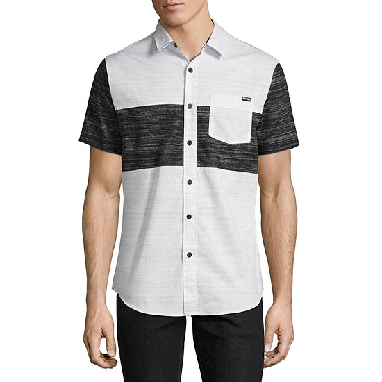 Zoo York Mens Short Sleeve Button-Front Shirt