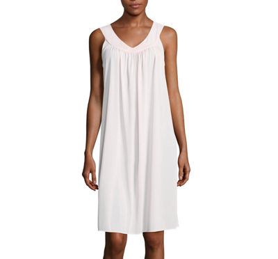 Collette by Miss Elaine Sleeveless Short Tricot Nightgown