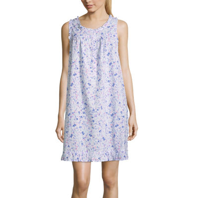 Adonna Woven Sleeveless Floral Nightgown