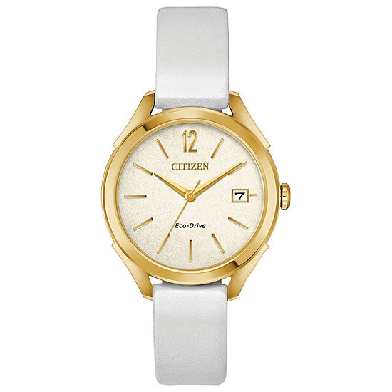 Drive from Citizen Womens White Strap Watch-Fe6142-08a