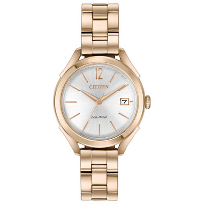 Drive from Citizen Womens Rose Goldtone Bracelet Watch-Fe6143-56a