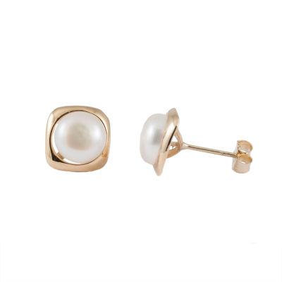 Splendid Pearls Pearl 14K Gold Stud Earrings
