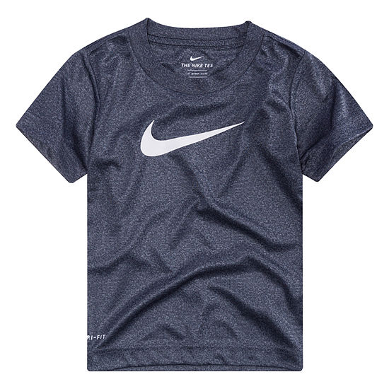 Nike Boys Crew Neck Short Sleeve Dri-Fit T-Shirt-Toddler