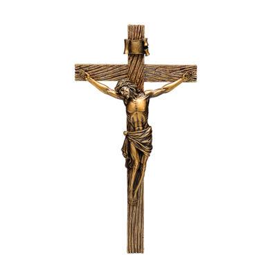 """20"""" Antique Gold Crucifix"""""""