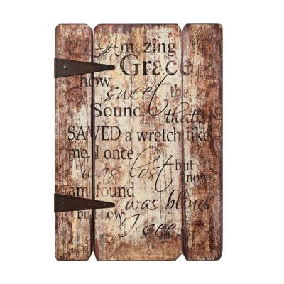 """17"""" Amazing Grace Plaque"""""""