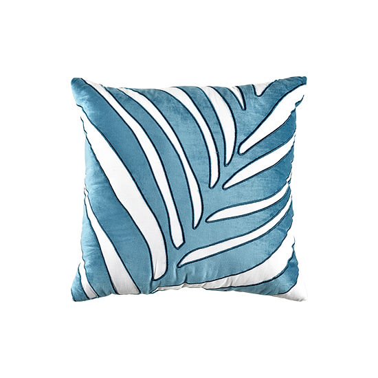 Liz Claiborne Aruba 18x18 Applique Decorative Square Throw Pillow