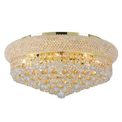 Empire Collection 10 Light Clear Crystal Flush Mount Ceiling Light