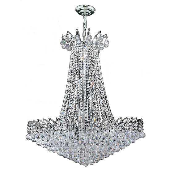 Empire Collection 16 Light Large Round Crystal Chandelier