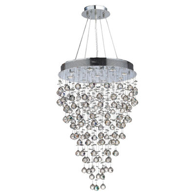 Icicle Collection 9 Light Chrome Finish and ClearCrystal Chandelier