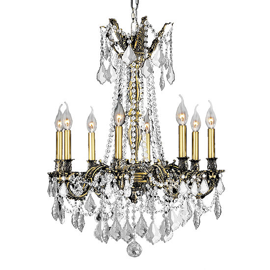 Windsor Collection 8 Light Clear Crystal Chandelier