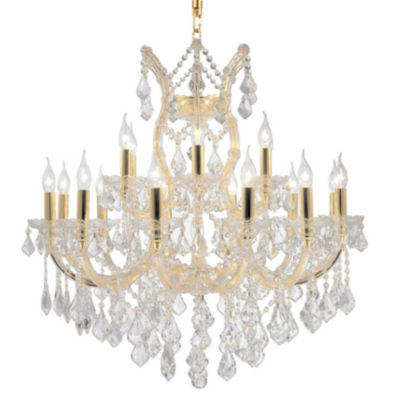 Maria Theresa Collection 19 Light 2-Tier Clear Crystal Chandelier