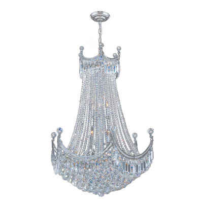 Empire Collection 24 Light Large Round Crystal Chandelier