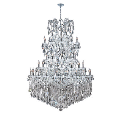 Maria Theresa Collection 61 Light 4-Tier Round Crystal Chandelier