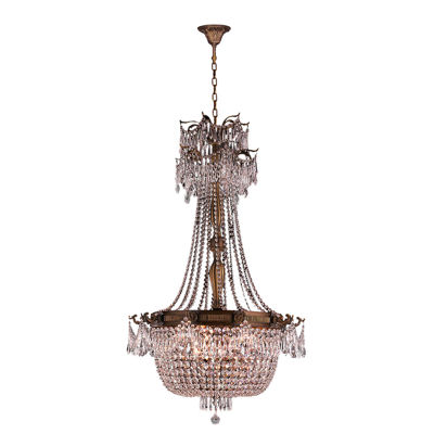 Winchester Collection 10 Light French Gold Finishand Crystal Chandelier
