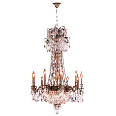 Winchester Collection 15 Light Antique Bronze Finish and Clear Crystal Chandelier