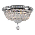 Empire Collection 4 Light Round Clear Crystal Flush Mount Ceiling Light